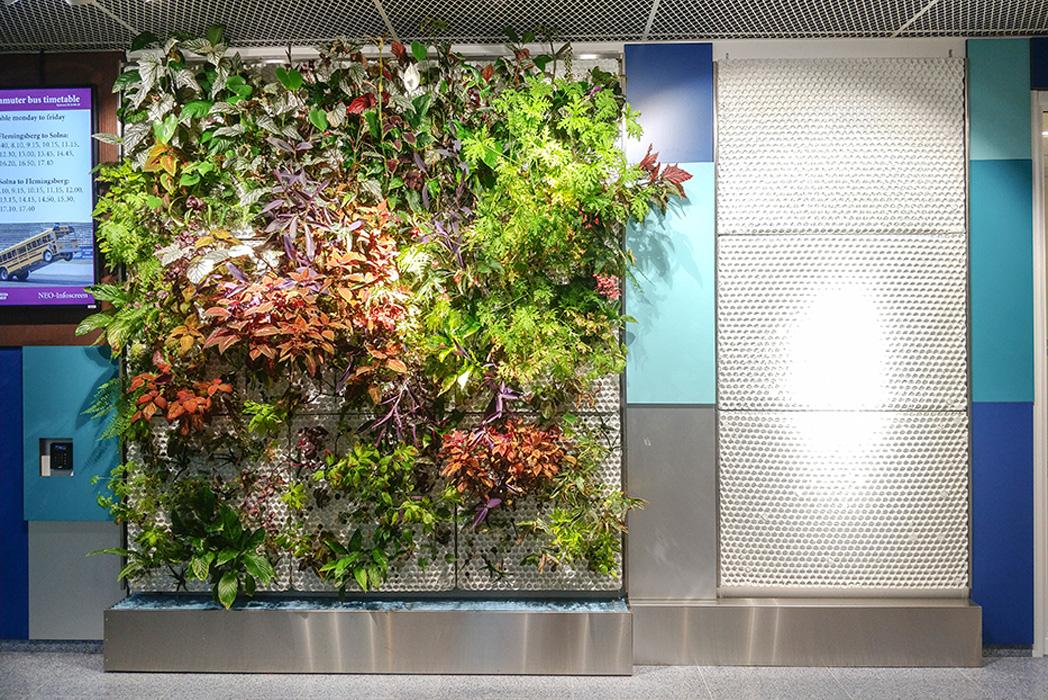 växtvägg och paneler